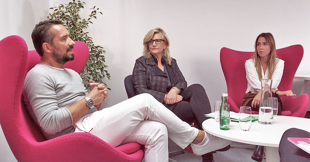 Diskussion mit Dr. Andreas Nather, Angelika Hager und Sina Hochleutner